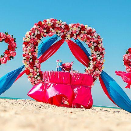 """Организация мини церемонии """"Море сердец"""" Сахл Хашиш, Хургада, Египет"""
