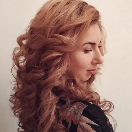 Локоны или причёска, от 55 см волосы