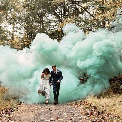 Цветной дым для уличных фотосессий
