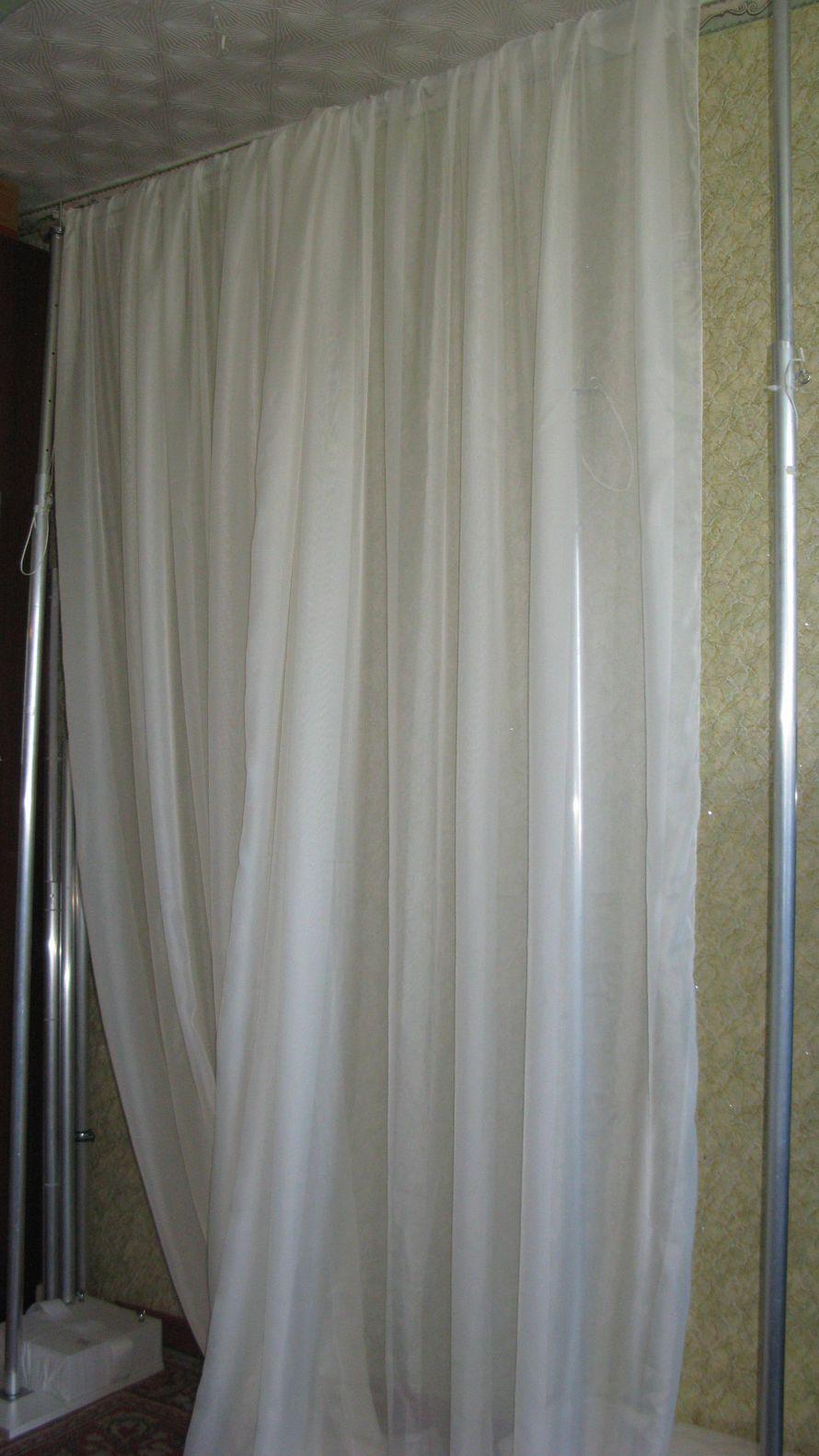 Аренда декора: стойки для тканевых драпировок