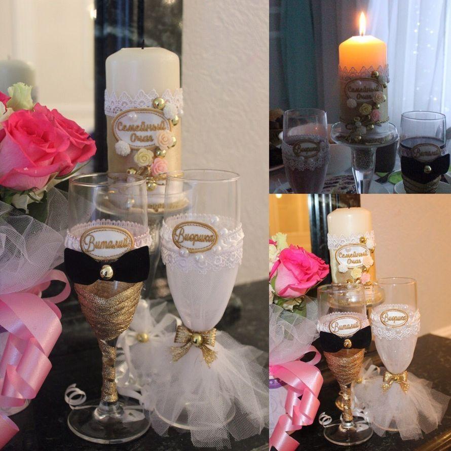 Именные бокалы и свечи для зажжения семейного очага
