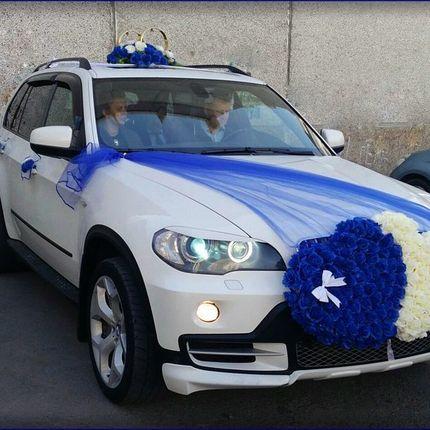 Комплект из синего и белого сердца для машины
