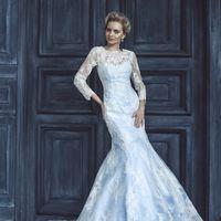 свадебное платье - модель 1028, силуэт- русалка, кружево