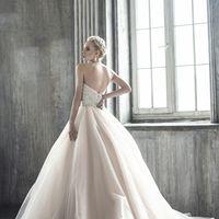 свадебное платье - модель 1030, пышное, юбка- фатин, корсет-камни, бисер, пайетки