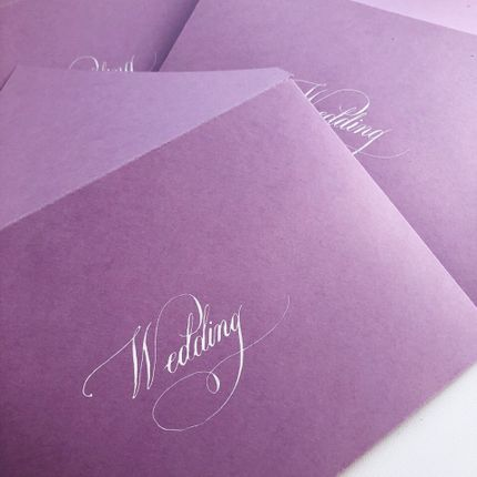 Персонализация (подпись конвертов и карточек)