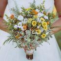 Букеты невесты из ромашек в стиле рустик