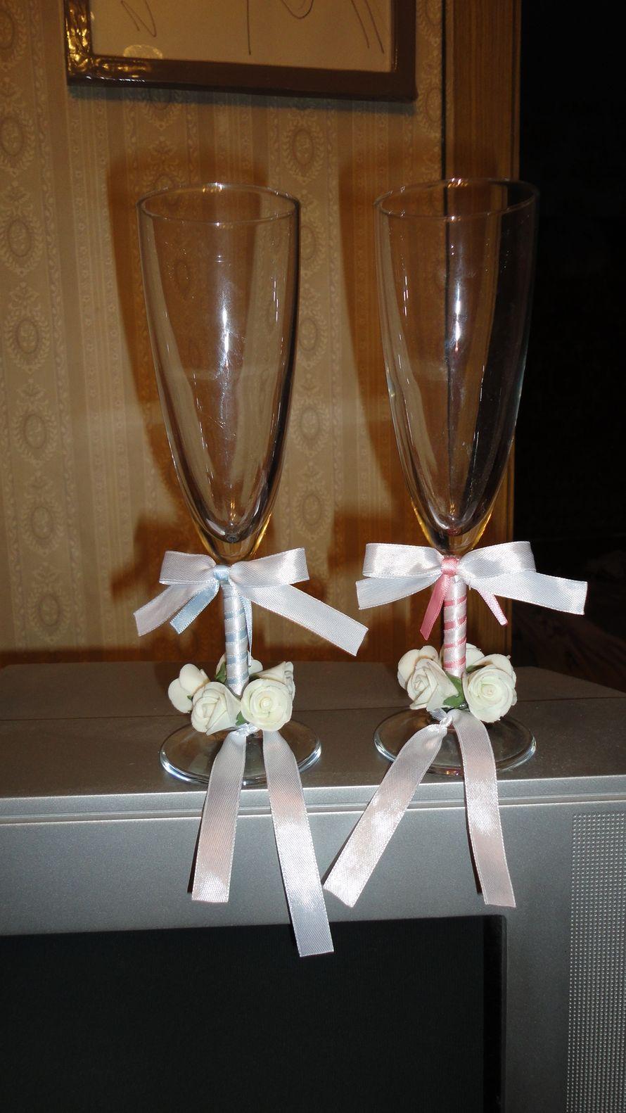 Свадебные бокалы своими руками, мастер-класс Мастера hand 93