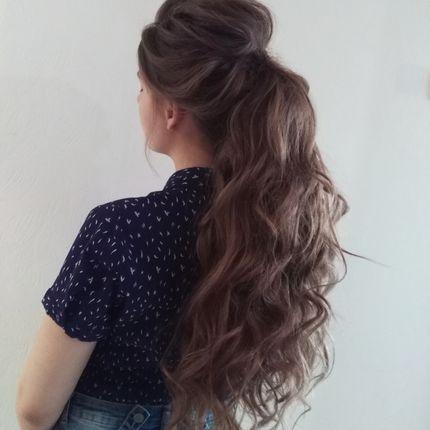 Причёска - Высокий хвост