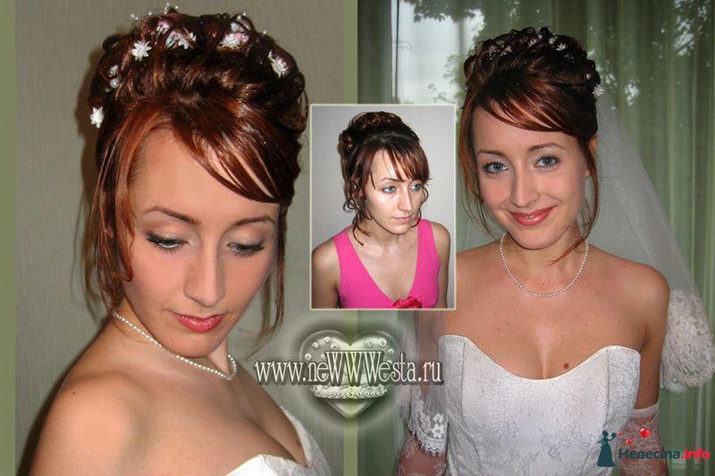 Прическа и макияж Татьяны (волосы средней длины) - фото 115663 Свадебный стилист-визажист Севостьянова Наталья