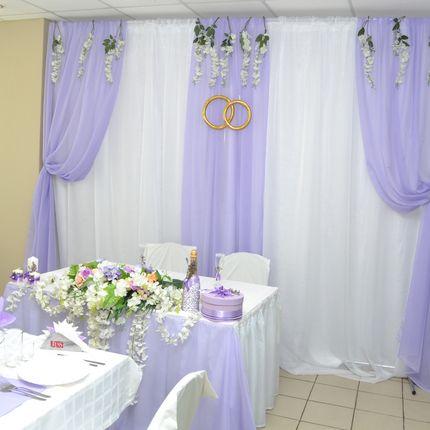 Оформление свадьбы в сиреневом цвете, цена от