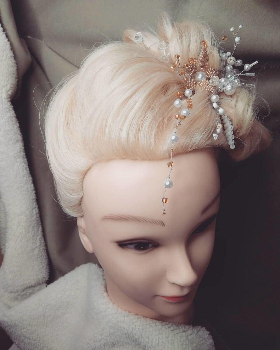 Причёска на длинные волосы + украшения