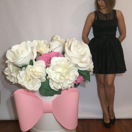 Шляпная коробочка цветов