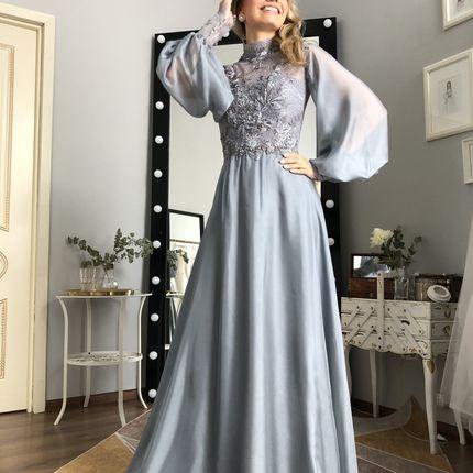 """Вечернее платье с объемными рукавами """"Дафна"""""""
