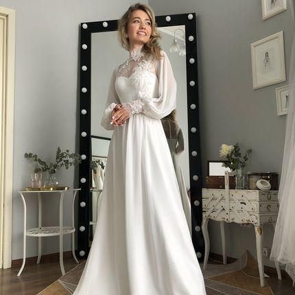 """Платье """"Офелия"""" молочное"""