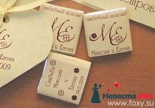 Шоколадки для гостей - фото 107839 besol