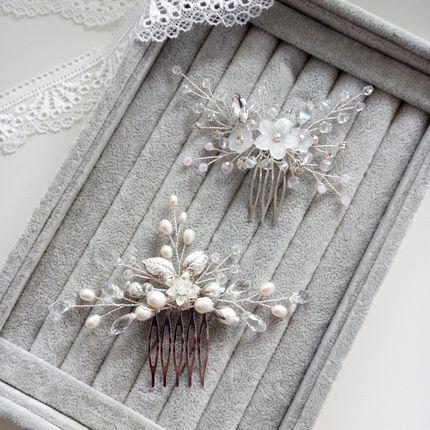 Гребни в причёску невесты