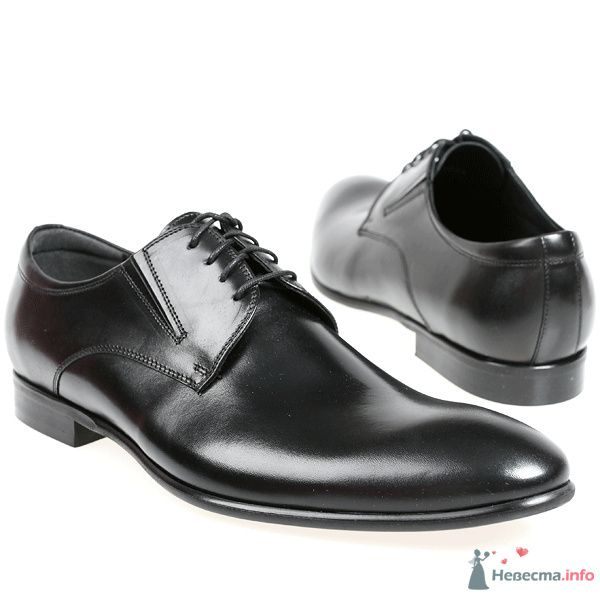 Черные модельные кожаные  мужские туфли со шнурками - фото 76080 Kwinto-shoes - cвадебная обувь