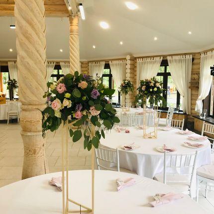 Композиция на столы гостей в стиле Рустик