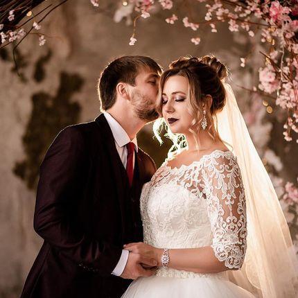 Образ невесты в 4 руки (макияж + причёска)