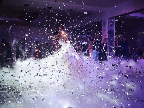 Тяжелый дым и конфетти на свадебный танец | Ростов | GOF show