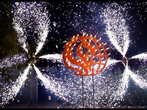 Пиротехнический логотип и вертушки на корпоратив | Ростов-на-Дону | GOF show