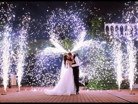 Вертушка холодных фонтанов на свадьбу | Ростов | GOF show