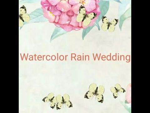Акварельная свадьба в дождь