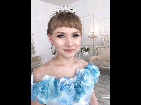 Ксения Саватеева. Макияж и прическа для именинницы, невесты и выпускницы в одном лице