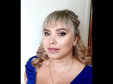 Ксения Саватеева. Освежающий макияж и собранные локоны для Анны