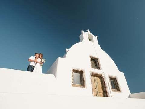 Свадьба на острове Санторини Марии и Максима