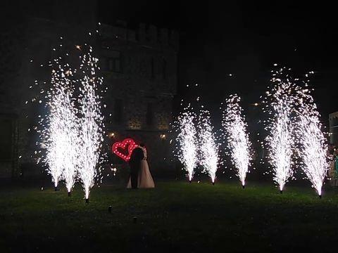 Шоу двойное сердце +Холодные фонтаны 6 метров